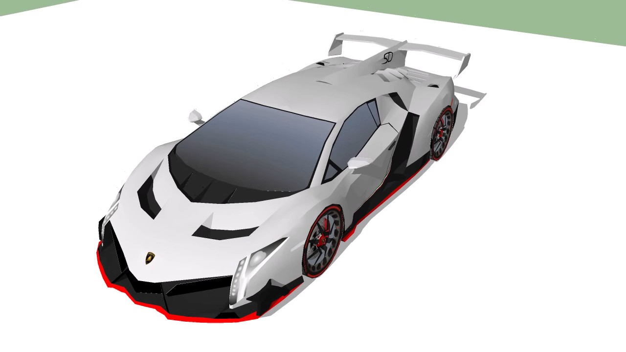 Lamborghini Veneno Papercraft Model