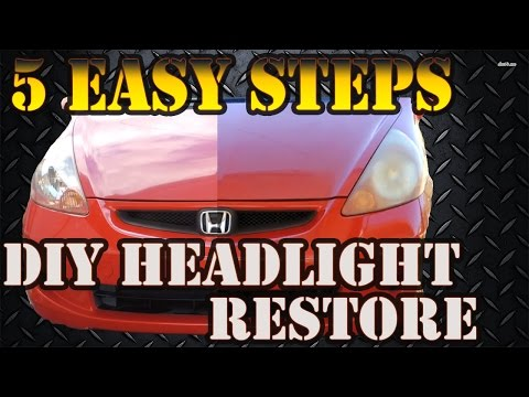 How to Polish Headlights BY HAND No Power Tools! - DIY Easy!
