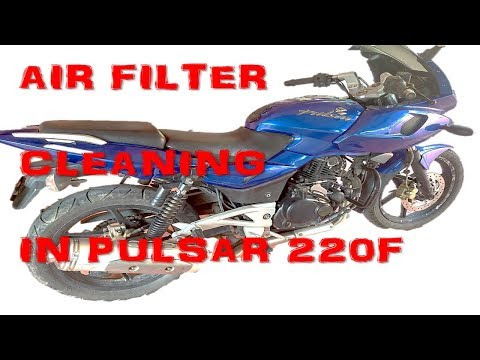 Air filter cleaning in bike || PULSAR 220F || MALAYALAM