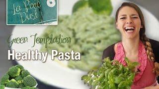 Green Temptation - A Healthy Italian Pasta Recipe - Spinach Kale & Broccoli