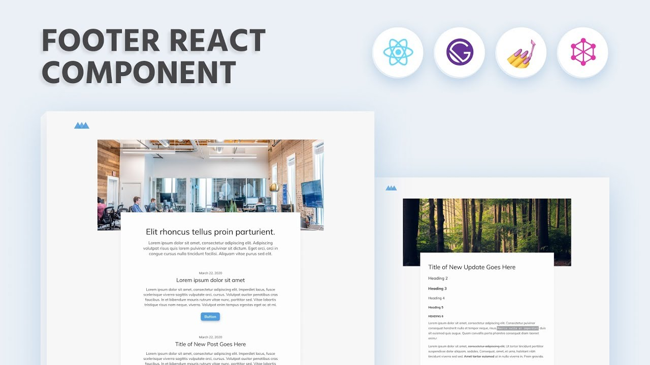 Gatsby JS Course: Create a Footer Component in React