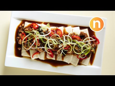 Steamed Tofu With Minced Meat [Nyonya Cooking]