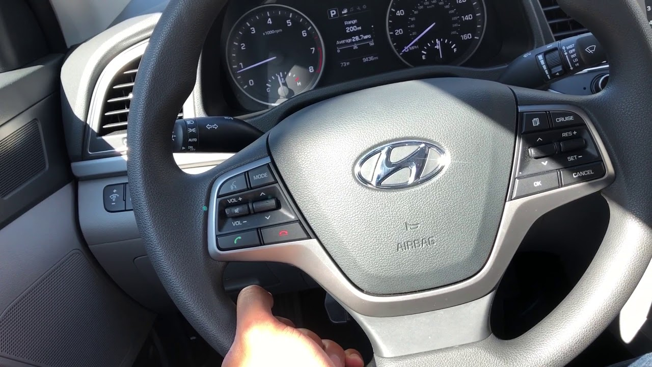 Adjust Steering Wheel Height Hyundai Elantra
