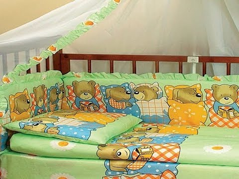 Прекрасным подарком для новорожденного станут бамперы на кровать , которые можно сделать своими рука