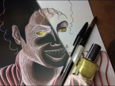 Thriller Michael Jackson Halloween Inversion Drawing Time