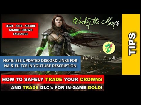 ESO: How to TRADE GOLD safely or TRADE CROWN gifts for GOLD | links in description