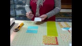 """How To Make A House Block Using 5"""" Squares - Quilting Tips & Techniques 065"""