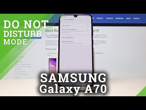 How To Enable Quiet Mode In Samsung Galaxy A70 - Do Not Disturb Mode