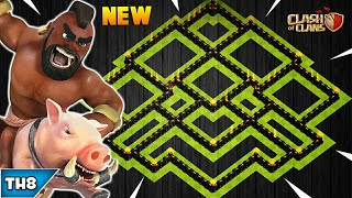 NEW TOWN HALL 8 FARMING/TROPHY BASE 2018! TH8 HYBRID FARM BASE UPDATED!! - CLASH OF CLANS(COC)