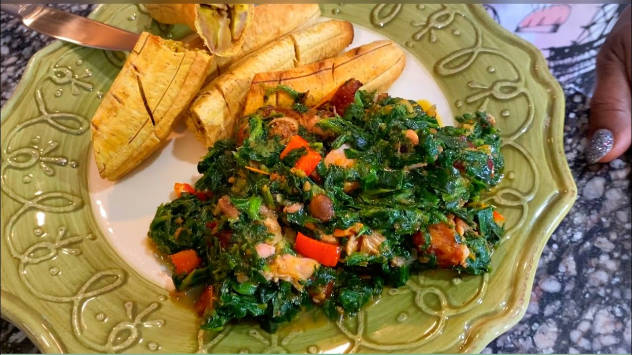 Cooking with Mrs Obiagwu | How to make Spinach Sauce Stew (African food)