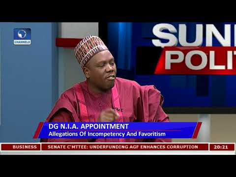 Download Youtube: NIA Appointment: Senator Alleges New Intelligence Boss Failed Exams Pt.1 |Politics Today|