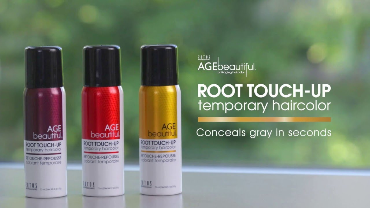 Agebeautiful Root Touch Up Temporary Haircolor Spray Youtube