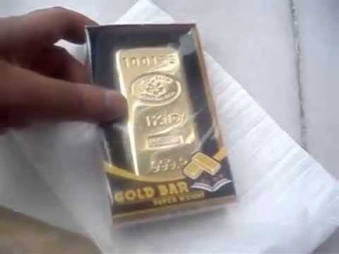 Gold Bar Bullion Paper Weight