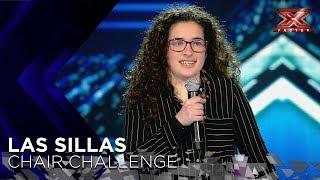 Andrea toca su ukelele para conseguir una silla | Sillas 1 | Factor X 2018