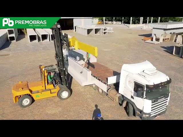 carregamento de peças para a Petrobras