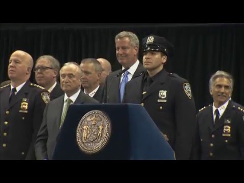 Mayor de Blasio Delivers Remarks at Police Academy Graduation Ceremony