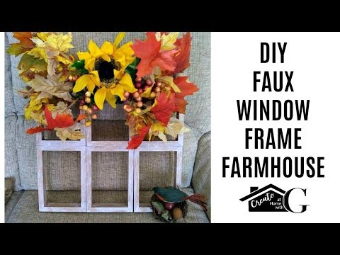 🍂POUNDLAND UK'S DOLLAR TREE FAUX WINDOW FRAME DIY AUTUMN||FALL||HARVEST 2018