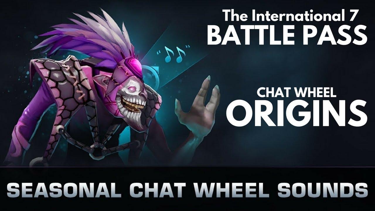 dota 2 ti7 seasonal chat wheel origins youtube
