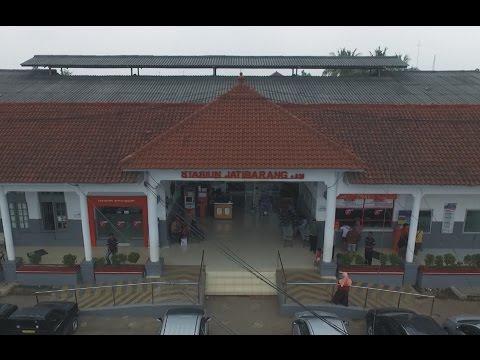 Stasiun Jatibarang Dilihat Dari Atas Ketinggian - Aerial View DJI Phantom 3