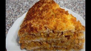 Насыпной пирог 3 СТАКАНА с яблоками и тыквой