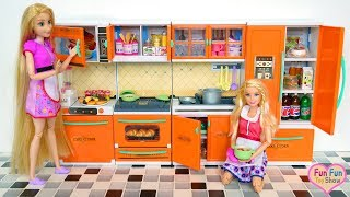 Barbie doll New Kitchen Opening - Barbie Toy Dapur boneka Barbie Boneca Cozinha