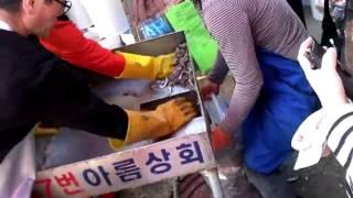 기장멸치축제^^ 멸치젓담기ㅋ