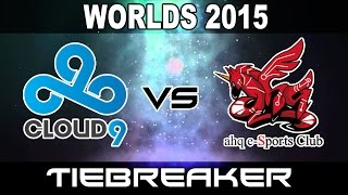 C9 vs AHQ - TieBreaker - 2015 World Championship Week 2 Day 4