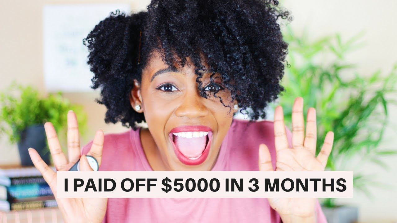 How I Paid Off $5,000 of Debt in 3 MONTHS