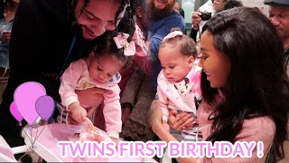 OUR TWIN DAUGHTERS EPIC 1ST BIRTHDAY PARTY !!!