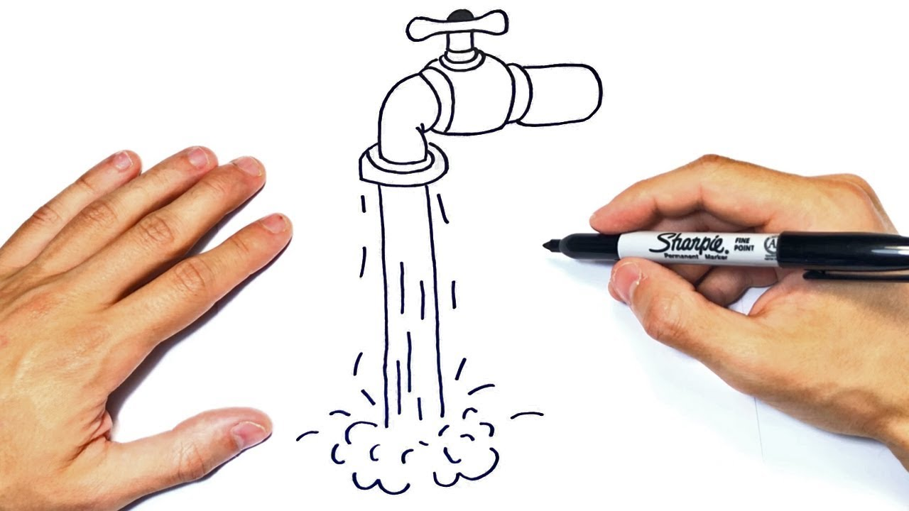 Cómo dibujar un Grifo de Agua Paso a Paso y fácil - YouTube