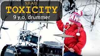 Toxicity by SOAD - Ultimate Drum Cover - Insane Challenge by Kate Kuziakina, 9 y.o. drummer girl