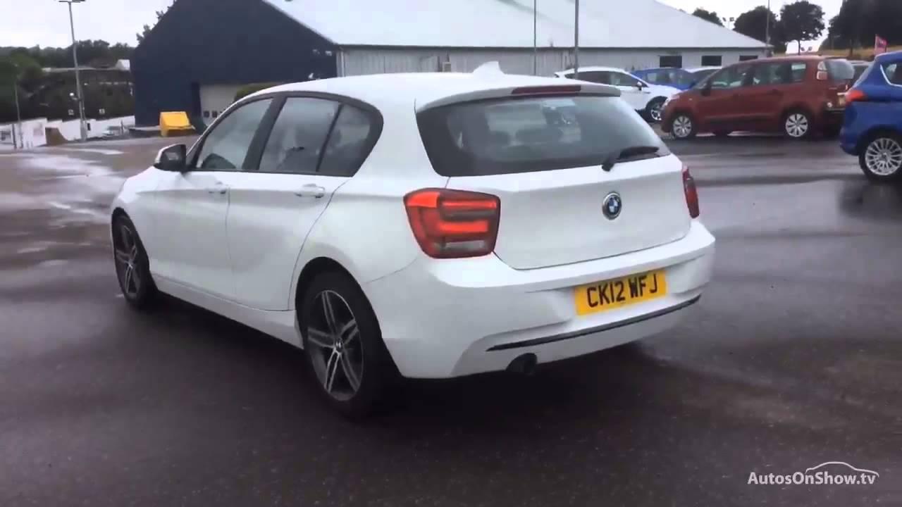BMW 1 SERIES 116I SPORT WHITE 2012 - YouTube