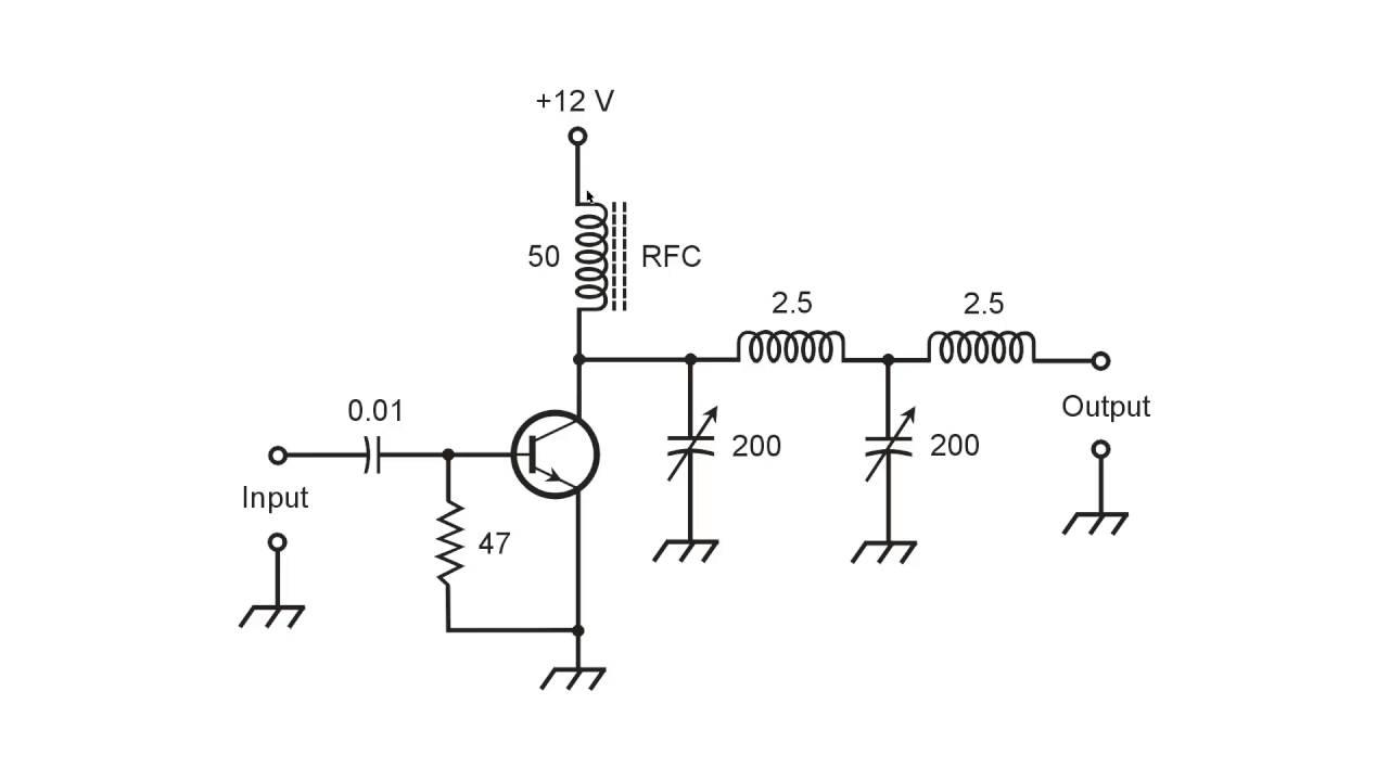 medium resolution of tuned rf power amplifier components