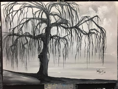 Black and white willow tree (ACRYLIC)