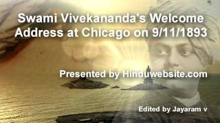 Welcome Speech Addressed by Swami Vivekanada At Chicago World Parliament of Religions