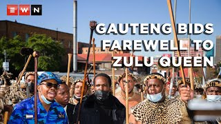 Gauteng bid farewell to the late Queen Mantfombi Dlamini Zulu as her remains were taken from the Johannesburg mortuary to her home in Nongoma, KwaZulu-Natal.   #QueenMantfombiDlaminiZulu  #ZuluQueen