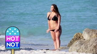 vuclip Ashley Graham's Beach Photoshoot on Miami Beach