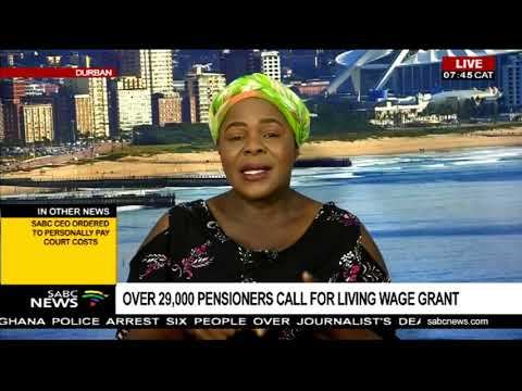 Pietermaritzburg Pensioners Forum calls for a living wage grant