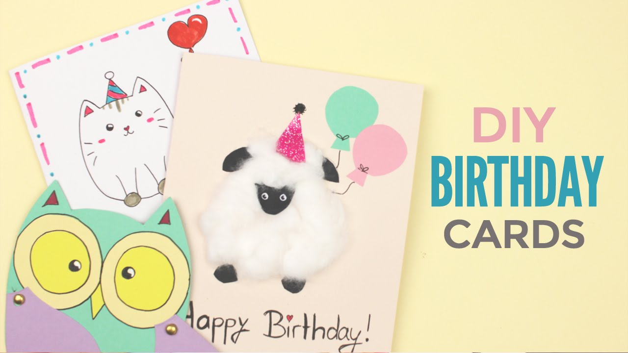 DIY Cute Birthday Cards