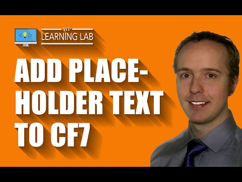 Easily Add Contact Form 7 Placeholder Text To Any Input Field | Contact Form 7 Tutorials Part 14