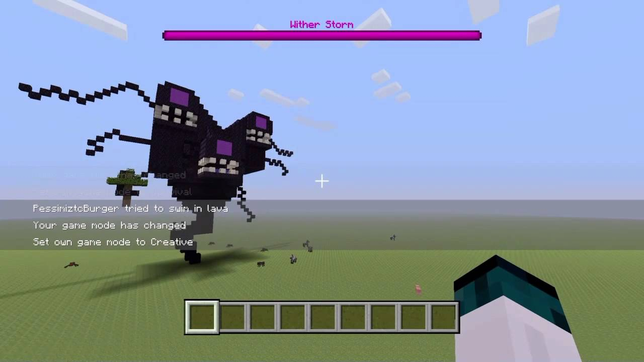 Minecraft Ps4 Wither Storm Creation Youtube