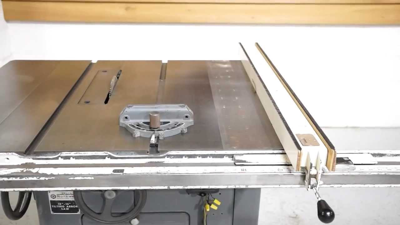 Delta rockwell 14 table saw 78 biesemeyer fence youtube greentooth Image collections