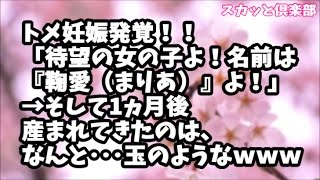 【スカッとする話】トメ妊娠発覚!!「待望の女の子よ!名前は『鞠愛(まりあ)』よ!」そして1ヵ月後産まれてきたのは、なんと・・・玉のようなwww