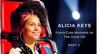 Alicia Keys | Funny/Cute moments on The Voice US | PART 2