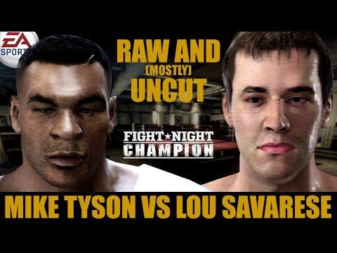 Mike Tyson vs Lou Savarese ★ Tyson Raw And [Mostly] Uncut ★ Full Fight Night Champion Simulation