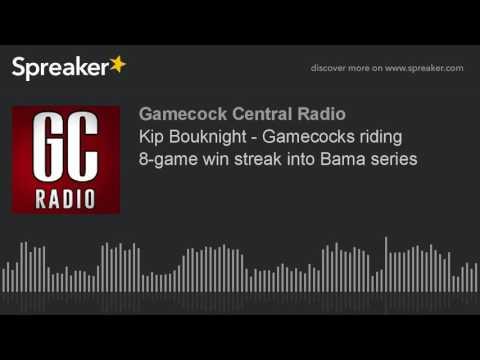 Kip Bouknight - Gamecocks riding 8-game win streak into Bama series