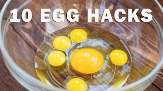 10 AWESOME EGG TRICKS - EGG HACKS
