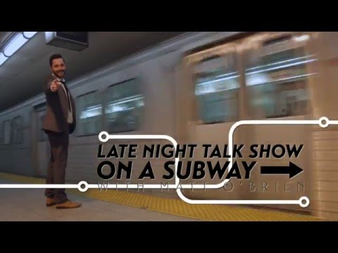 Late Night Talk Show on a Subway sizzle reel