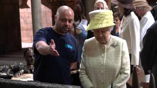 The Queen and The Duke of Edinburgh visit the set of Game of Thrones