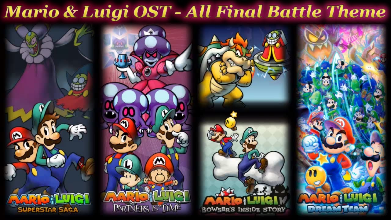 Mario Luigi Ost All Final Battle Theme Youtube